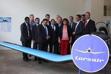 Minister Lies, Landtagsabgeordnete Tiemann und Projektmitarbeiter