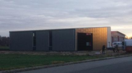 Bau der neuen Produktionshalle - Home of the Corsair
